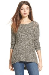 Women's Hinge Back Detail Sweater Olive Tarmac Reverse Marl