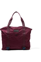 Adidas By Stella Mccartney Cotton Canvas Yoga Tote Burgundy