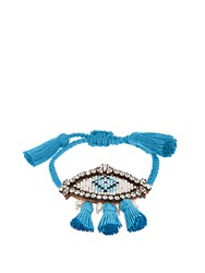 Shourouk Hippie Athna Evil Eye Bracelet Blue