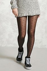Forever 21 Polka Dot Tights Black