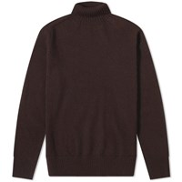 Mhl By Margaret Howell Mhl. Saddle Sleeve Roll Neck Brown