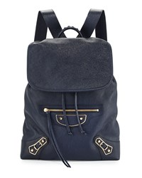 Metallic Edge Goatskin Backpack Royal Blue Balenciaga