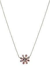 Konplott Magic Fireball Necklace Pink Brown Antique Brass Rose