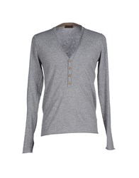 Alpha Massimo Rebecchi Knitwear Jumpers Men Grey
