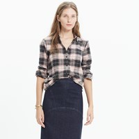 Madewell Rivet And Thread Flannel Slim Tunic Shirt In Mallory Plaid