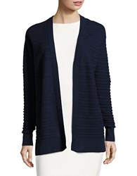 Michael Michael Kors Textured Cotton Cardigan True Navy