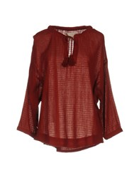 Leon And Harper Blouses Brick Red