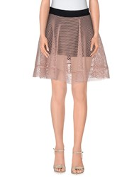 Mnml Couture Skirts Mini Skirts Women Skin Color