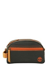 Timberland Genuine Leather Trimmed Canvas Travel Kit Green