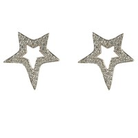 Latelita London Open Star Earring Silver White Silver