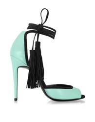 Pierre Hardy Pool Leather And Black Suede Majorelle Sandal Mint