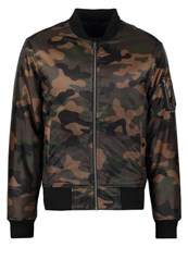 Urban Classics Bomber Jacket Wood Camo Green