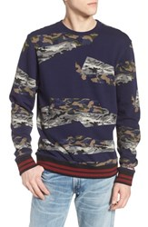 Eleven Paris Elevenparis Some Fleece Sweatshirt Navy