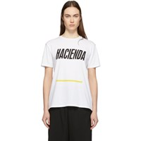 6397 White 'Hacienda' Boy T Shirt