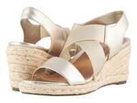 Vionic Ainsleigh Champagne Wedge Shoes Gold