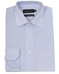 Double Two Men's Patterned Formal Shirt Blue