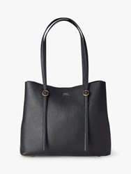 Ralph Lauren Polo Lennox Leather Tote Bag Black