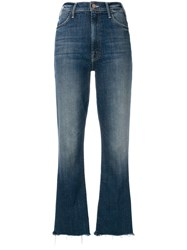 Mother Loose Fitted Cropped Jeans Blue