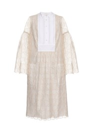 Giles Bell Sleeved Macram Lace Dress