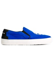 Markus Lupfer Skull Slip On Sneakers Blue