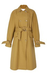 Tibi Belted Trench Coat Brown