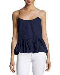F.T.B By Fade To Blue Woven Bubble Tank Navy