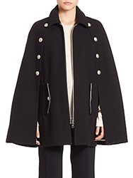 See By Chloe Solid Wool Blend Cape Black