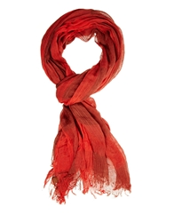 Esprit Bold Check Scarf Red