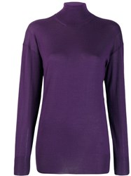 Tom Ford Turtle Neck Top Purple