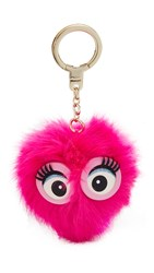 Kate Spade Monster Pouf Pig Key Fob Pink Confetti