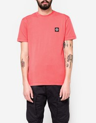 Stone Island Patch Logo T Shirt In Coral