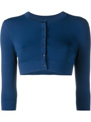 Alaia Cropped Cardigan Blue