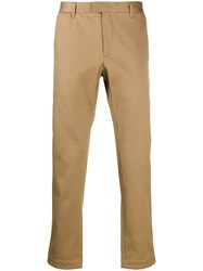 Closed Fabric Key Chain Detail Trousers Brown