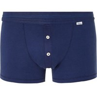 Schiesser Karl Heinz Cotton Jersey Boxer Briefs Blue