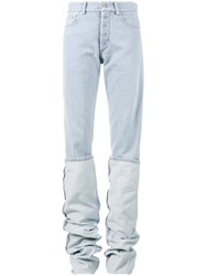 Y Project Oversized Folded Jeans Blue