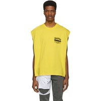 Adaptation Yellow Sleeveless T Shirt