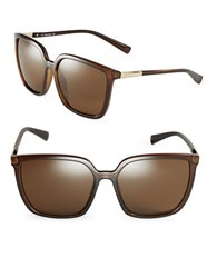 Calvin Klein 57Mm Square Sunglasses Brown
