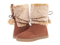 Toms Nepal Boot Rawhide Suede Faux Hair Women's Pull On Boots Brown