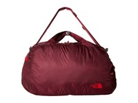 The North Face Flyweight Duffel Deep Garnet Red Tnf Red Duffel Bags Brown