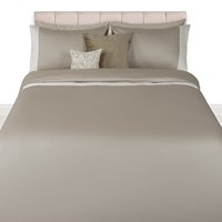 A By Amara Wellington Satin Duvet Set Taupe Cream Grey