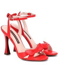Alexachung Leather Sandals Red