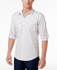 Inc International Concepts Men's Barnes Checked Long Sleeve Shirt Only At Macy's White