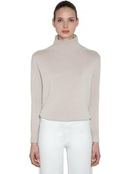 Max Mara 'S High Collar Cashmere Knit Sweater Ivory
