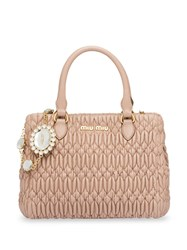 Miu Miu Cloquet Top Handle Bag Neutrals