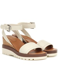 See By Chloe Leather Wedges White