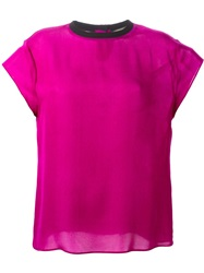 Fausto Puglisi Shortsleeved Top Pink And Purple