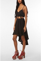 Urbanoutfitters.Com Reverse Lattice Waist High Low Dress