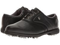 Footjoy Originals Cleated Plain Toe Twin Saddle Black Golf Shoes
