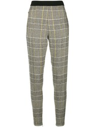 Ermanno Scervino Plaid Fitted Trousers Grey