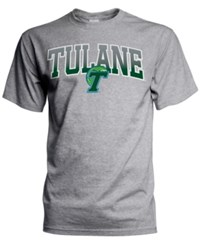 J America Men's Tulane Green Wave Gradient Arch T Shirt Gray